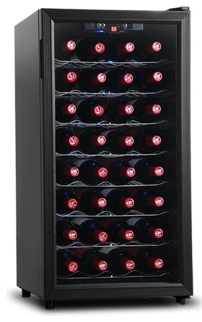 akdy 32bottle wine cooler cellar chiller