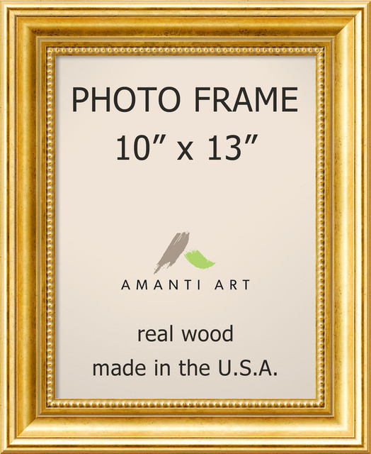 Picture Photo Frame 10x13 Townhouse Gold Outer Size 14x17