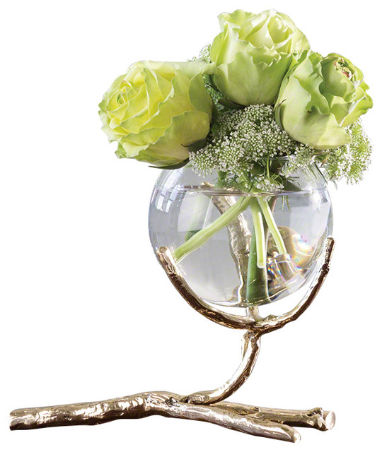 Twig Vase Holder Brass Contemporary Vases By Global Views And