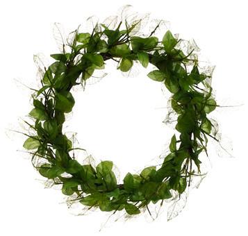 Silk Plants Direct Oak Leaf Wreath, Pack Of 4.