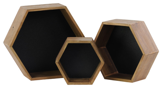 Urban Trends Collection Wooden Hexagonal Nesting