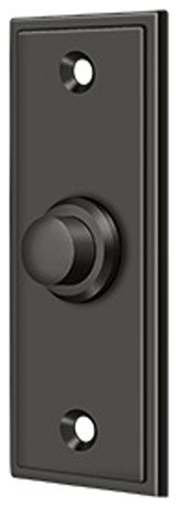 Bbs333u10b Bell Button, Rectangular Contemporary, Oil Rubbed Bronze.