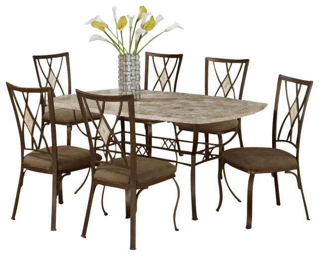 Hillsdale Furniture Brookside 5 Piece Rectangle Dining Set With Diamond Back