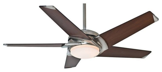 Casablanca Stealth 54 Energy Star Ceiling Fan, Brushed Nickel.