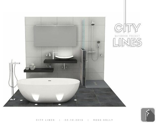 City Lines Bathroom Design For A Luxury Apartments Development