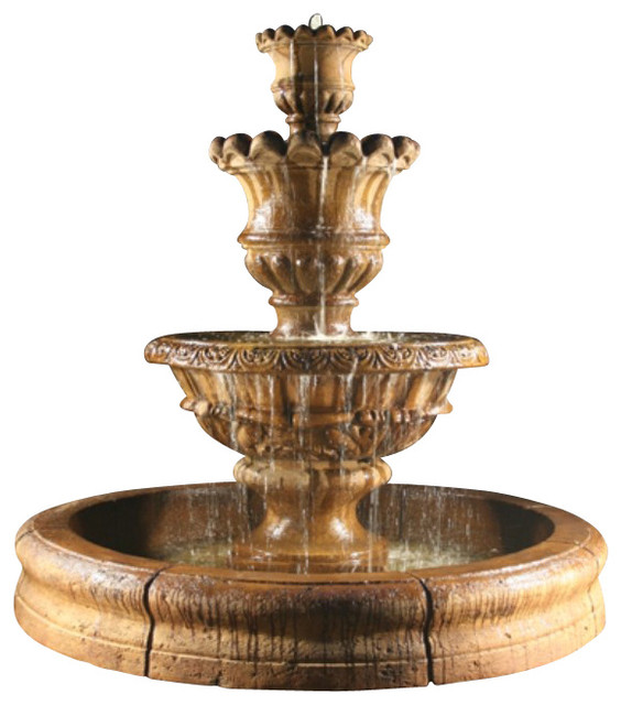 Elegante Fountain with Old European Basin - Traditional - Outdoor Fountains And Ponds - by ...