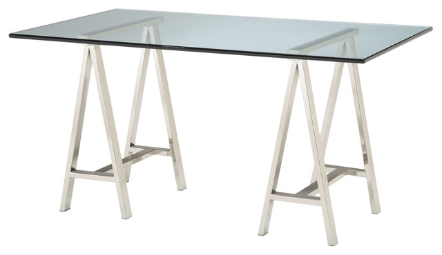 Sterling 6043526 Rectangular Glass Top Table.