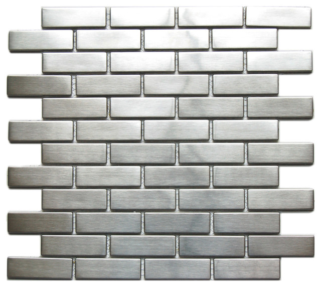 10 3 X10 Large Brick Pattern Eden Mosaic Stainless Steel Tile Contemporary