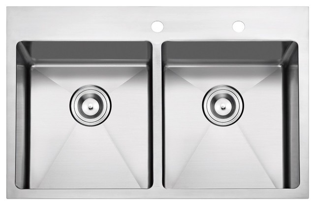 Stufurhome - Overmount Stainless Steel 2-Hole Kitchen Sink ...