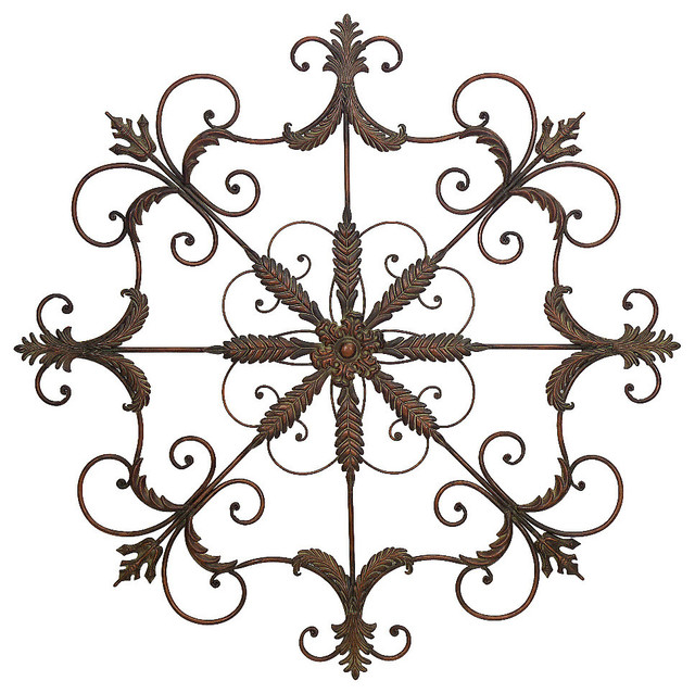 Metal Wall Plaque captivating wall plaque oversized - mediterranean - metal wall art