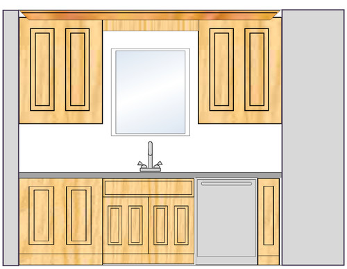 Help with cabinets against walls