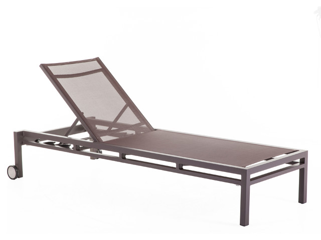 Controlbrand dallas outdoor sun lounger brown reviews for Brown chaise lounge outdoor