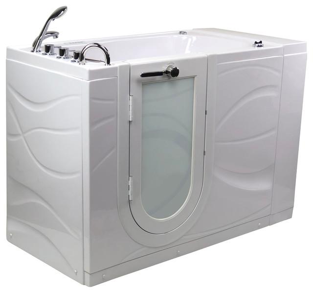 Chi Acrylic Hydro Massage Walk-In Bathtub Outward Swing Door.