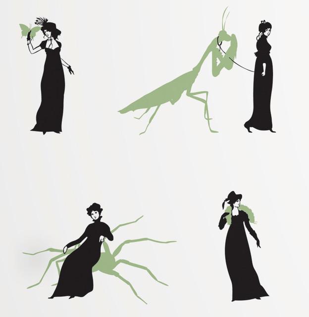 Ms. Ward Wallpaper Rolls, Set of 2, Mantis