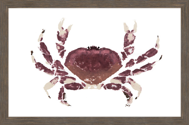 """dungeness Crab"" Framed Painting Print, 30""x20""."