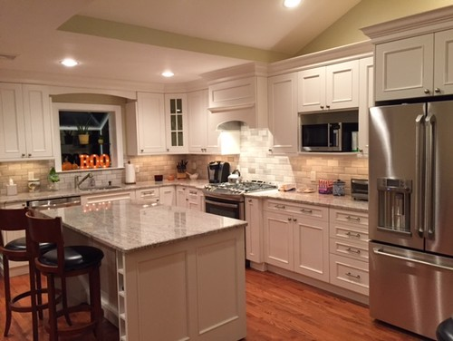 Split level kitchen renovation before and after for Split level home kitchen ideas