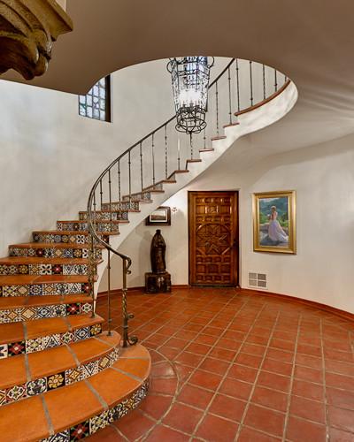 Historic Spanish Revival Mediterranean Staircase Los