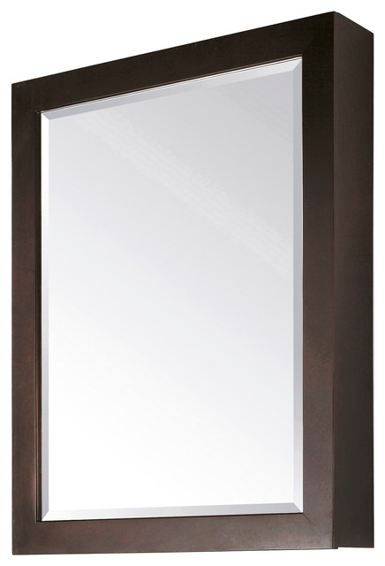 "Avanity 28"" Mirror Cabinet, Espresso Finish."