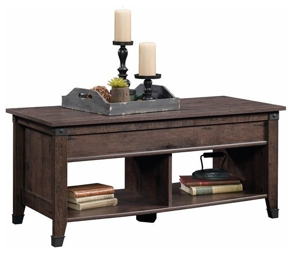 Houzz Black Coffee Table: Sauder Carson Forge Lift Top Coffee Table, Coffee