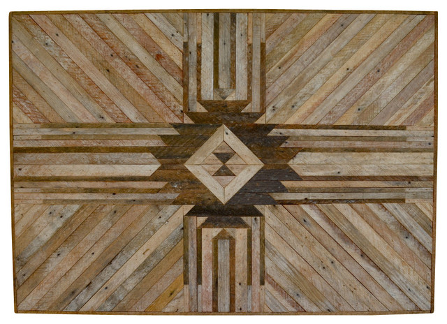 Wood Wall Hanging reclaimed wood - southwestern - wall accents -karmadeefa design