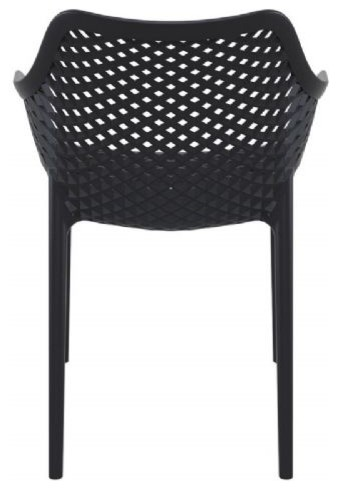 Dining Arm Chairs Black air extra large outdoor dining arm chair, black - contemporary