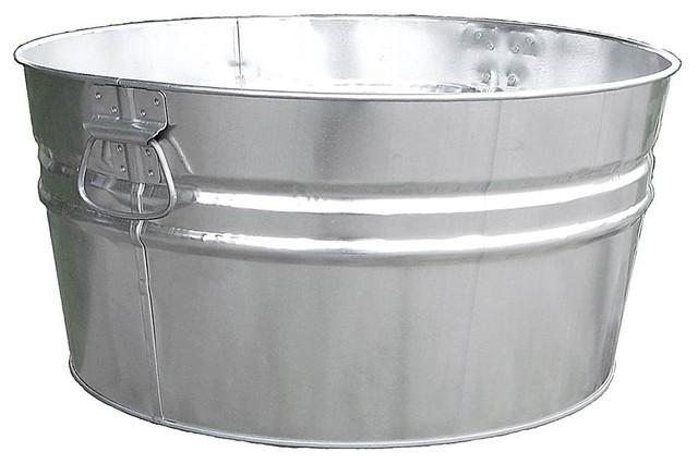 Galvanized Steel Tub W Handles - Set Of 6.