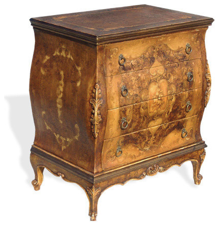Old World Tuscan Nightstand Wally Traditional Nightstands And Bedside Tables By Lutina Furniture