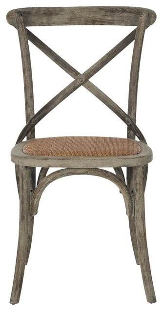 Franklin X-Back Chairs, Walnut, Set Of 2.