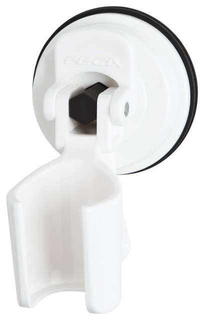 Adjustable Handheld Showerhead Bracket Holder With Suction Cup, White  Contemporary Showerhead Parts