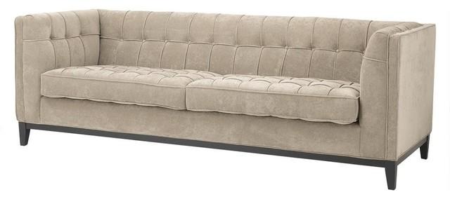 Eichholtz Aldgate Sofa Greige Transitional Sofas Oroa Furniture