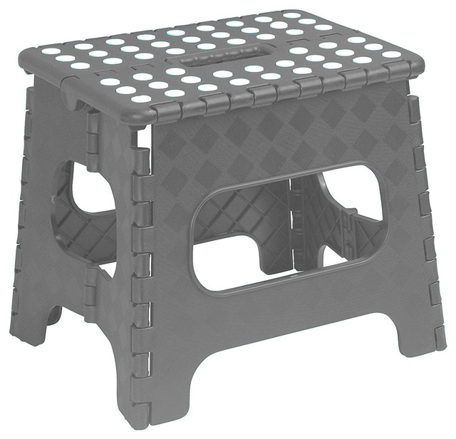 Miraculous Superior Folding Step Stool 13 Gray Caraccident5 Cool Chair Designs And Ideas Caraccident5Info