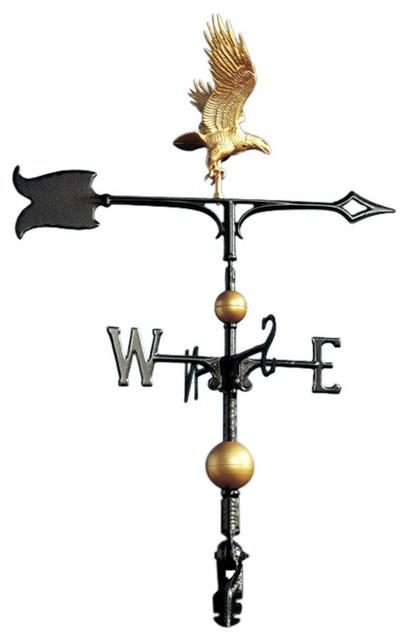 "30/"" Full Bodied Eagle Weathervane Bronze Gold"