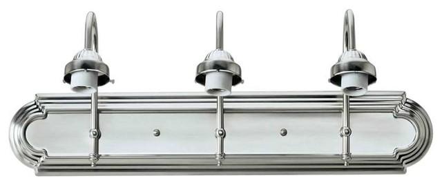 Forte Lighting 3 Light Bath Bracket Backplate in Brushed Nickel