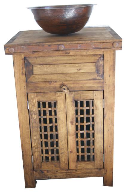 Rustic Reclaimed Wood Dungeon Door Bathroom Vanity, 24x20x32.
