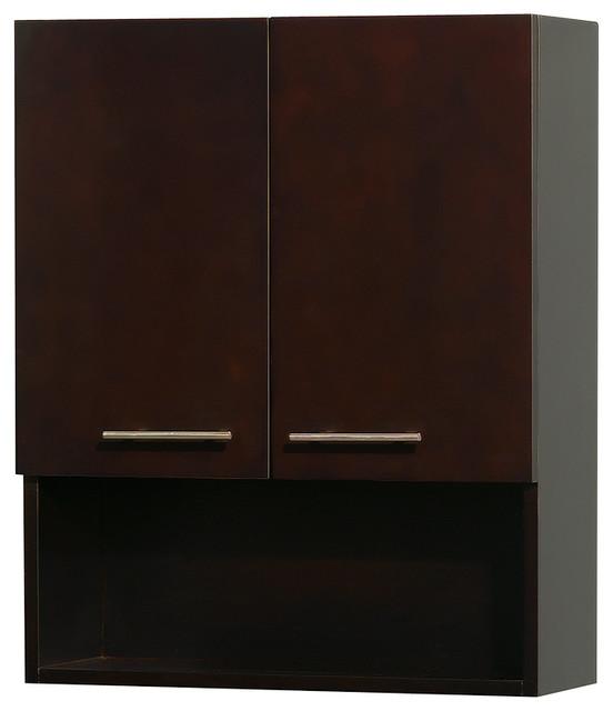 Centra Wall-Mounted Bathroom Storage Cabinet, Espresso modern-bathroom ...