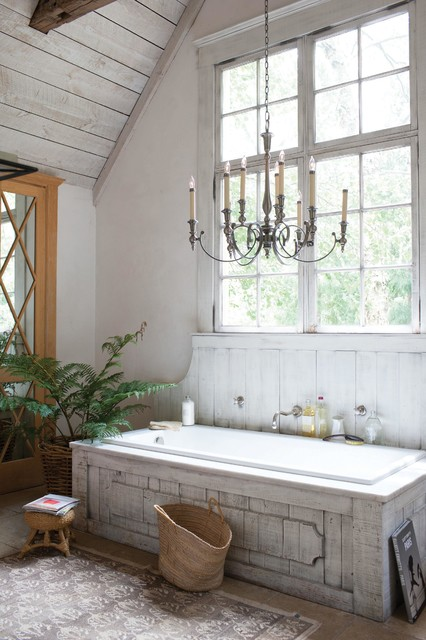 Home design - country home design idea in Cleveland