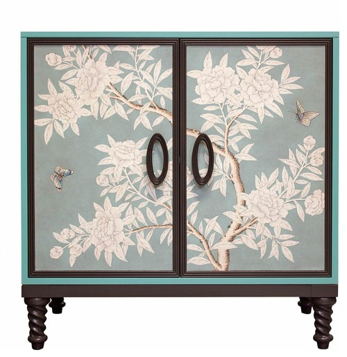 Facets Modern 36 Two-Door Cabinet, Gracie Blue