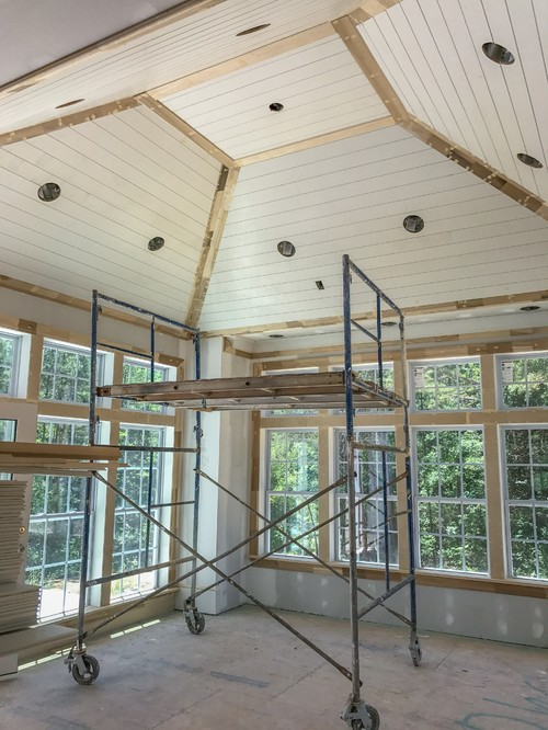 Shiplap On Ceiling Flat Or Semi Gloss And Why