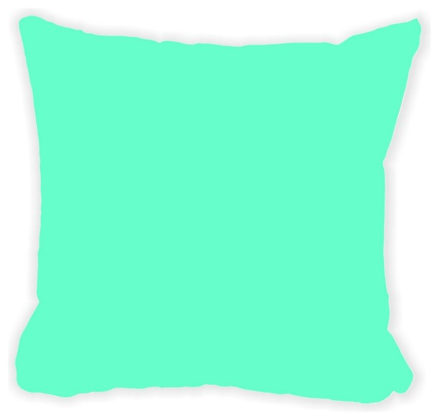 Black Microfiber Throw Pillows : Rikki Knight LLC - Turquoise Microfiber Throw Pillow - View in Your Room! Houzz