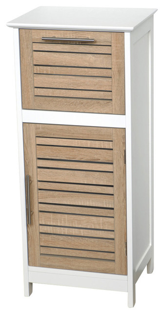 bathroom storage floor wood cabinet brown contemporary bathroom