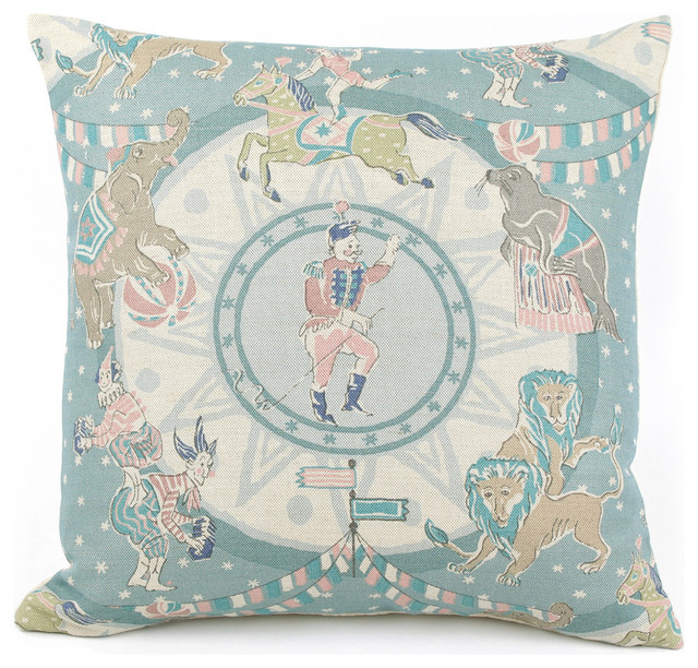 Big Top Dreams Throw Pillow - Decorative Pillows - by Chloe and Olive LLC