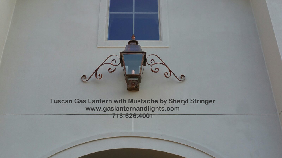 Tuscan Gas Lantern With Mustache Curls by Sheryl Stringer