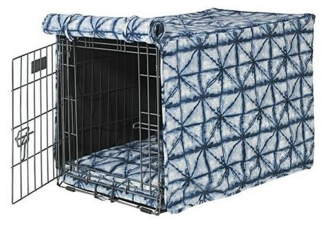 Microvelvet Luxury Dog Crate Cover Shibori Xl