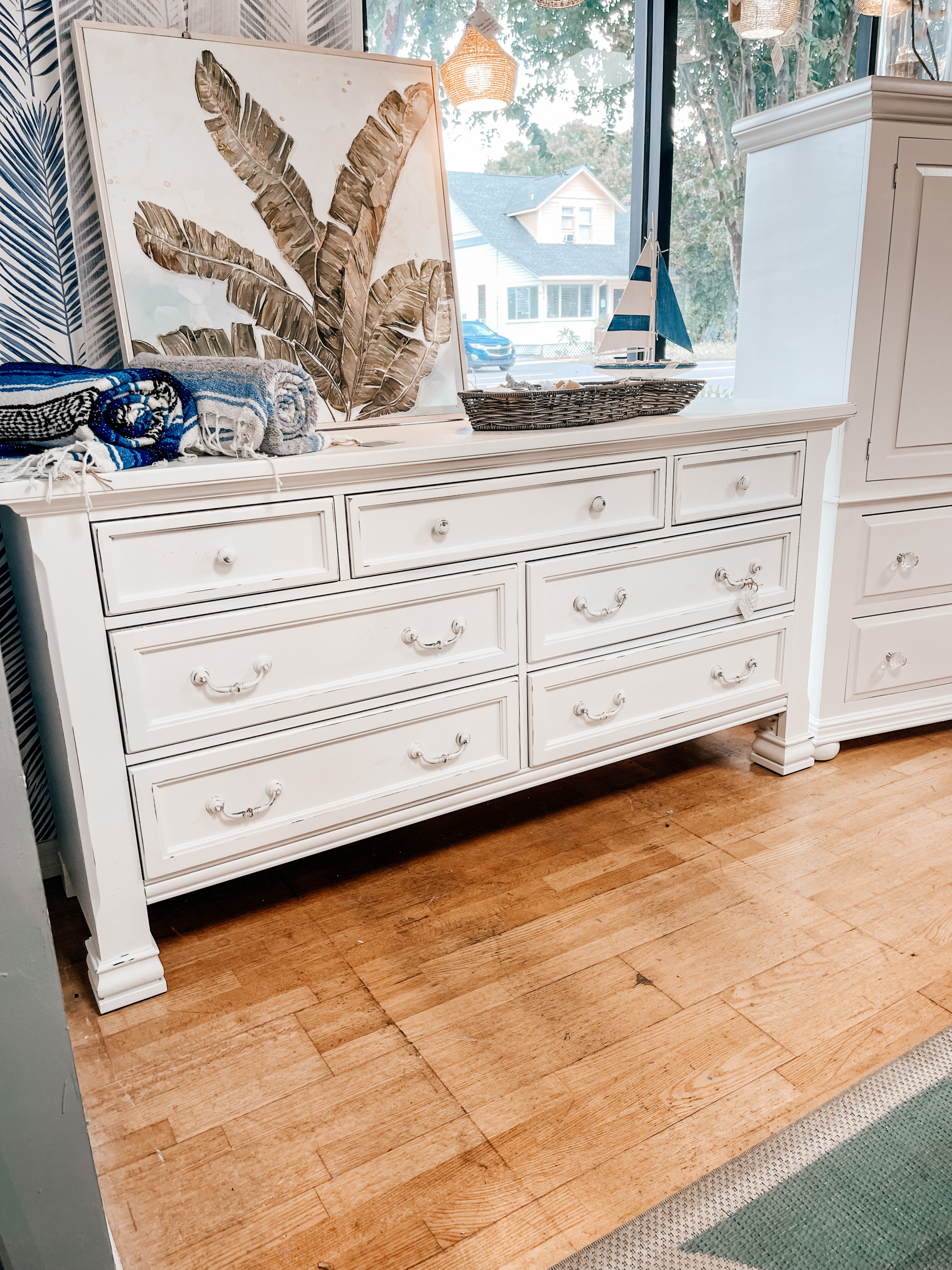 We love redesigning vintage and antique furniture to perfectly suit a new space! It's great for the environment and it allows us to offer our clients truly unique spaces.