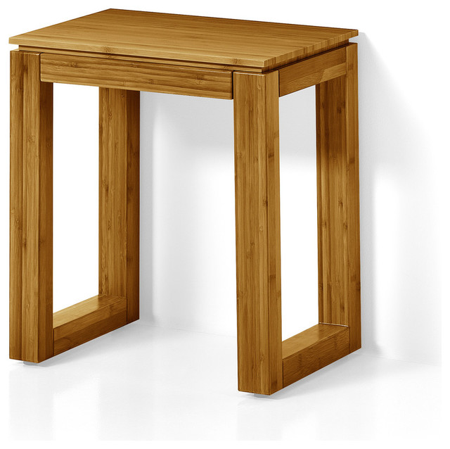 Fantastic Lb Canavera Backless Vanity Stool Bench Seat Lacquer Bamboo Natural Wood Onthecornerstone Fun Painted Chair Ideas Images Onthecornerstoneorg