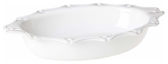 Berry And Thread Large Oval Baking Dish By Juliska, Whitewash.