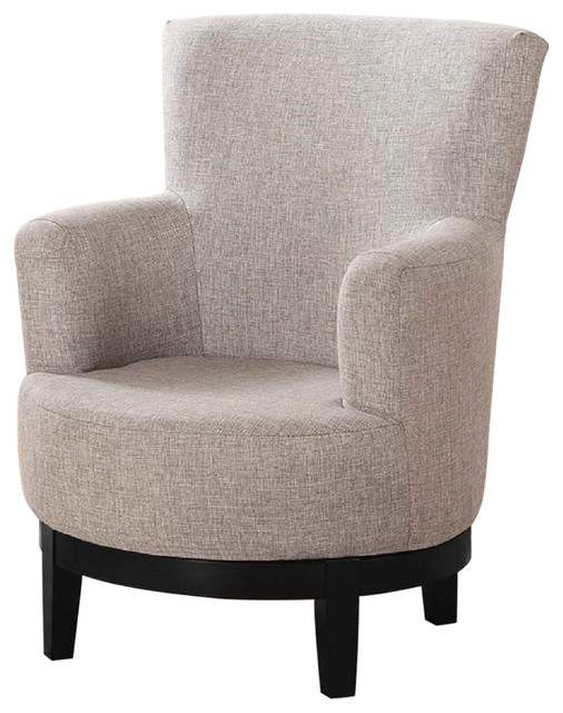 Swivel Accent Chair, Light Brown.