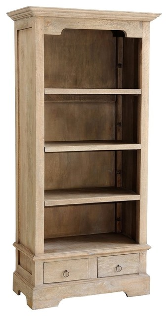 Jordan Small Bookcase, Rustic Mango Gray Wash