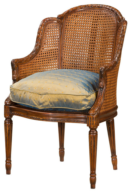 Theodore Alexander Essential Ta Louis Bergere Dining Chair Traditional Chairs