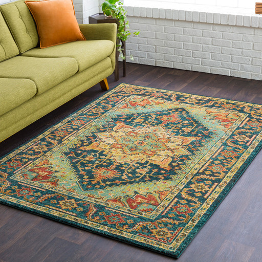 Smokerun Traditional Medallion Persian Area Rug Mediterranean Area Rugs By Hauteloom Houzz